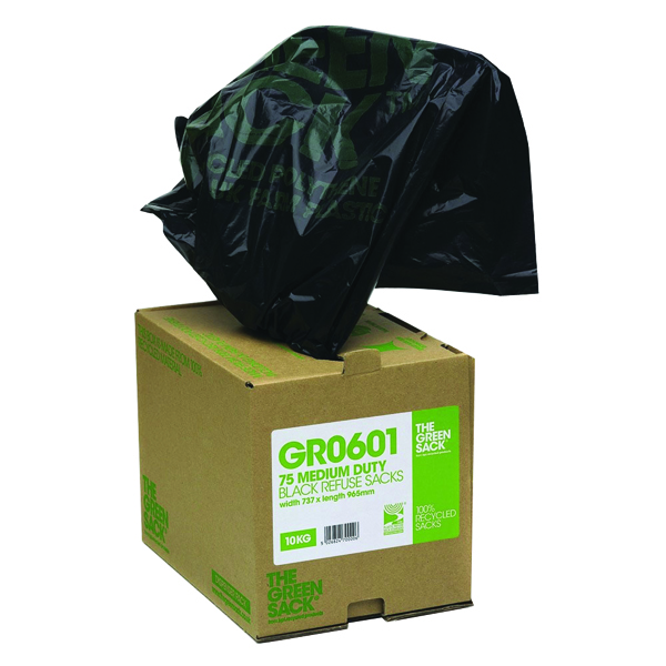 Binliner/Bags The Green Sack Compactor Sack in Dispenser Black (40 Pack) VHPGR0602