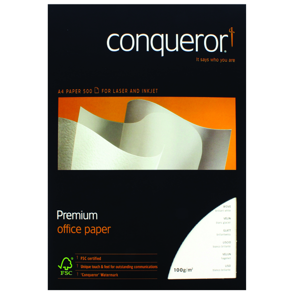 A4 Conqueror Wove White A4 Paper 100gsm (500 Pack) CQW0324BWNW