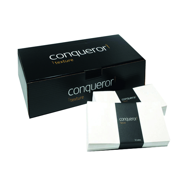 Other Conqueror Laid 110x220mm Cream DL Wallet Envelope (500 Pack) CDE1003CR