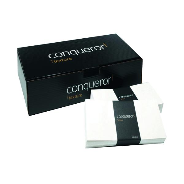 Conqueror Laid 110x220mm Cream DL Wallet Envelope (500 Pack) CDE1003CR
