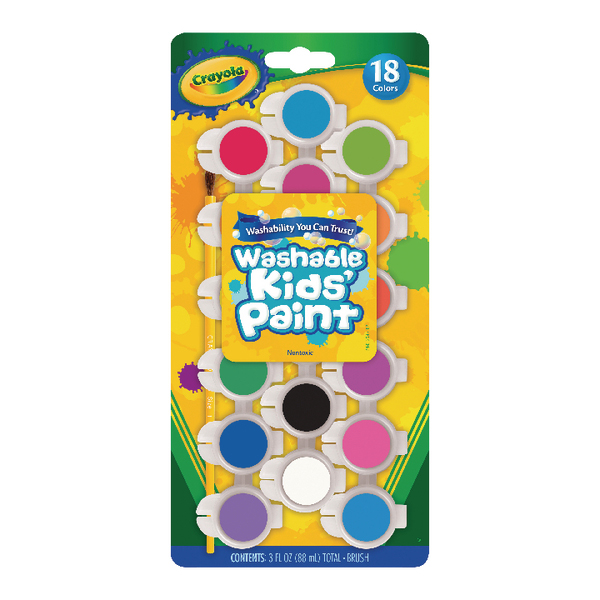 Crayon Crayola Washable Kids Poster Paints (108 Pack) 54-0125
