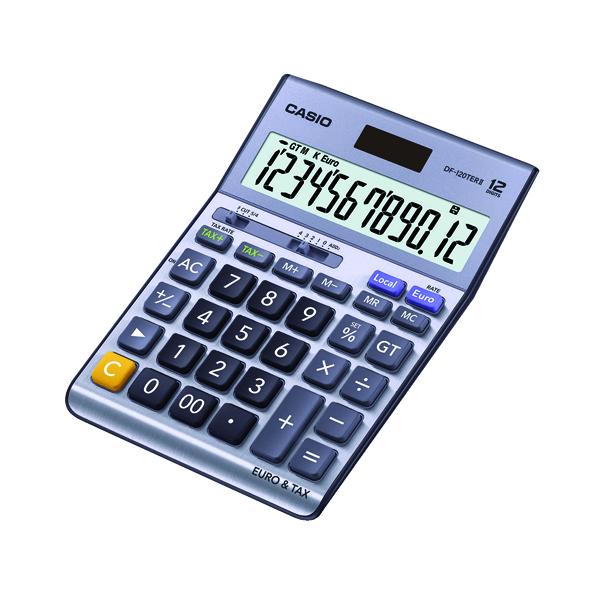 Desktop Calculator Casio Silver DF-120TERII Desktop Calculator DF-120TERII