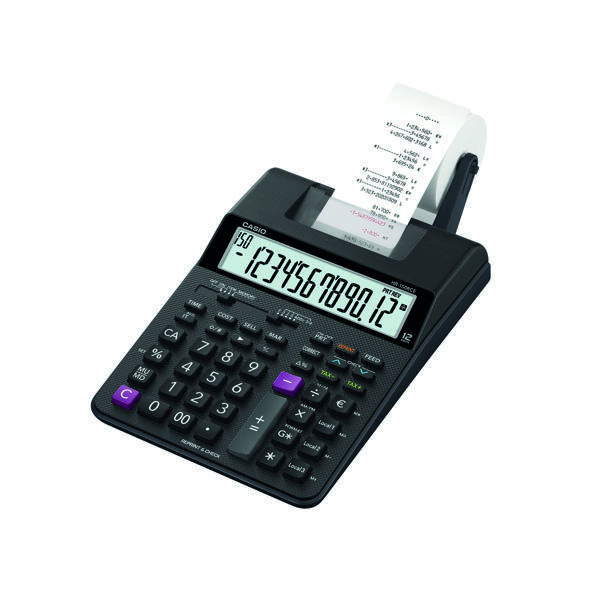 Casio HR-150RCE Printing Calculator Black HR-8RCE-WA-EC