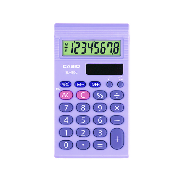 Handheld Calculator Casio SL-460 Pocket Calculator SL-460L-S-UP