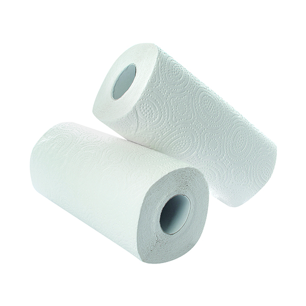 2Work Kitchen Roll White (24 Pack) KR0024