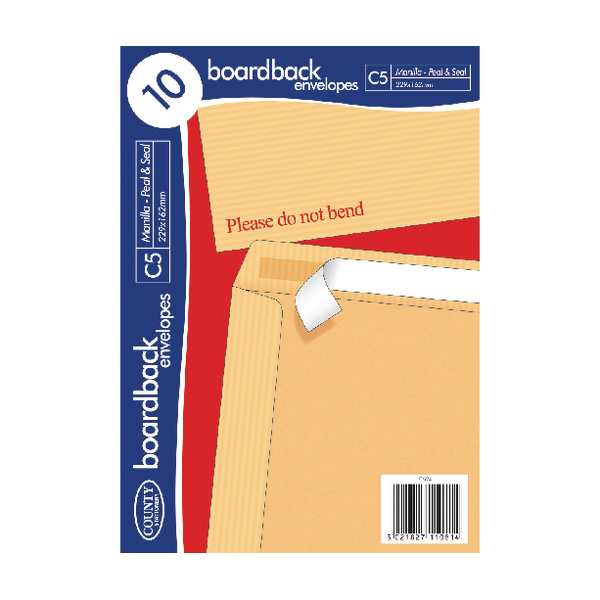 C5 County Stationery C5 10 Manilla Board Envelopes (10 Pack) C524