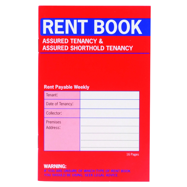 Land/Landlord Country Assured Tenancy Rent Book (20 Pack) C237