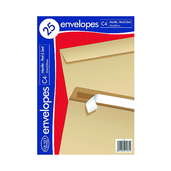 C4 County Stationery C4 25 Manilla PS Envelopes (20 Pack) C507