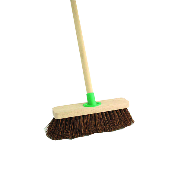 Mops & Buckets Stiff Bassine Broom with Handle 12 Inch VOW/F.10/BKT/C4