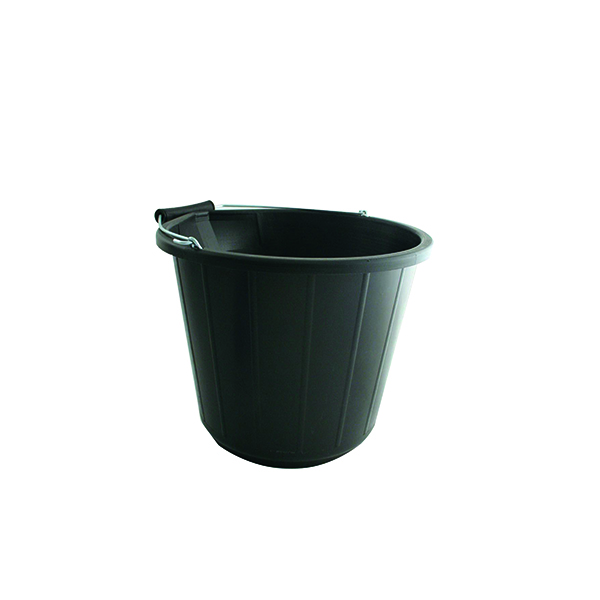 Heavy Duty Bucket 14 Litre Black VOW/BUCKET.01