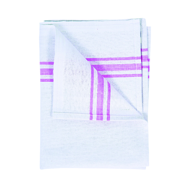 White Cotton Tea Towel 190 x 290mm (10 Pack) 103508