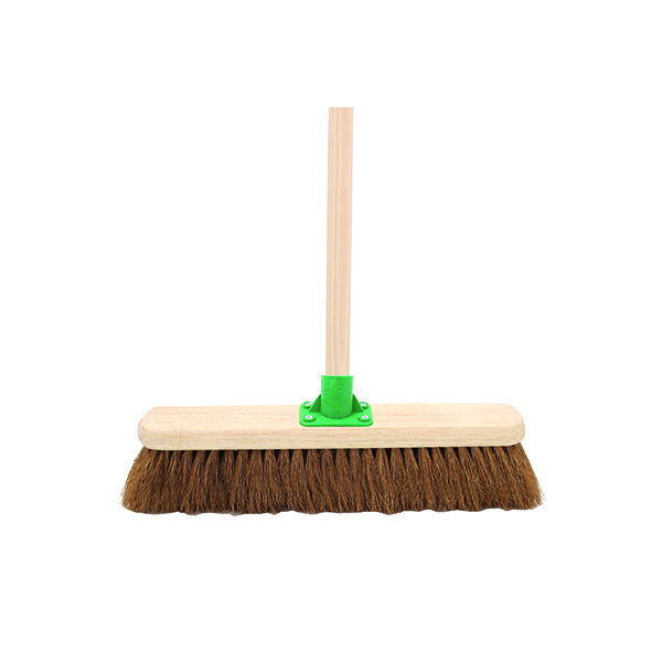 Mops & Buckets Coco Soft Broom with Handle 18 Inch G.01/Black T/C4