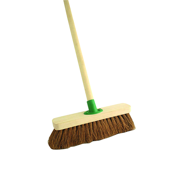 Mops & Buckets Coco Soft Broom with Handle 12 inch F.01/Black T/C4