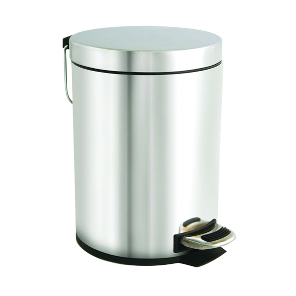 Rubbish Bins Stainless Steel Pedal Bin 5 Litre VOW/PB.05