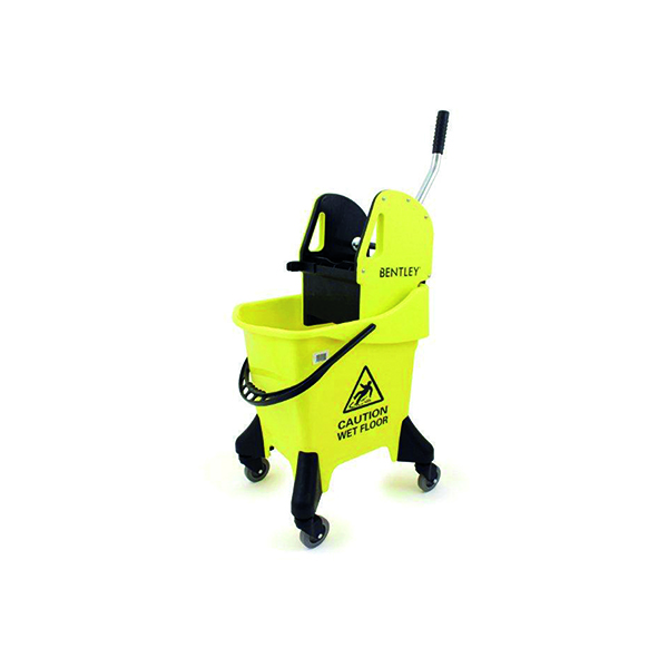 Hygineer Ergonomic Heavy Duty Mop Bucket Yellow 31 Litre HRMB31/Y