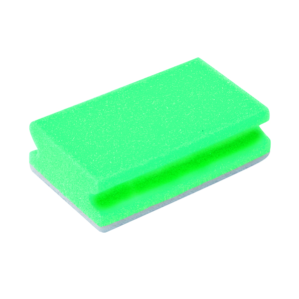 Cloths / Dusters / Scourers / Sponges Finger Grip Scourers 130x70x40mm Green (10 Pack) SPCAGN60I