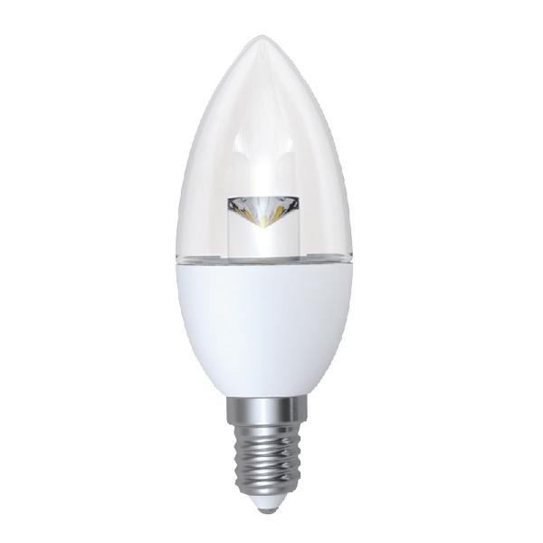 Spotlight Bulbs CED 5W Dimmable Candle LED Lamp E14 Clear DIMC5SESWW/CLR
