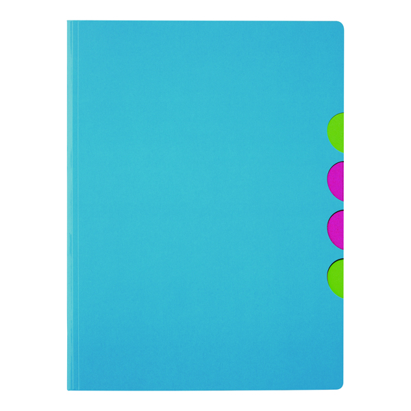 Durable Pagna 5-part Folder A4 Light Blue (10 Pack) 4180313