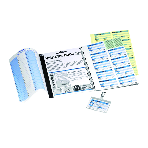 Durable Visitors Book Refill Pack (100 Pack) 1464/00