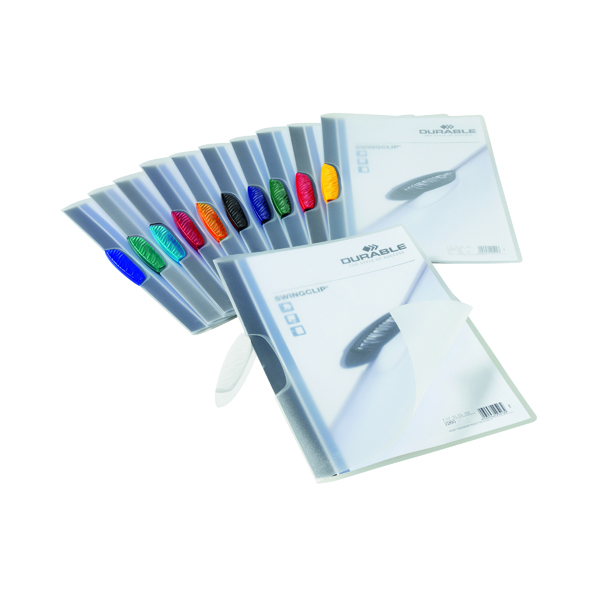 Durable 3mm Swingclip Folders Assorted (25 Pack) 2260/00