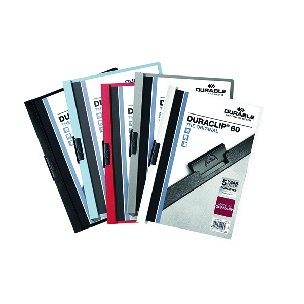 A4 Durable 6mm Duraclip File A4 Assorted (25 Pack) 2209/00