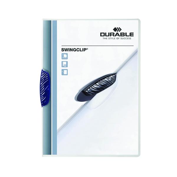 Durable Swingclip Clip Folder A4 Dark Blue (25 Pack) 2260/07