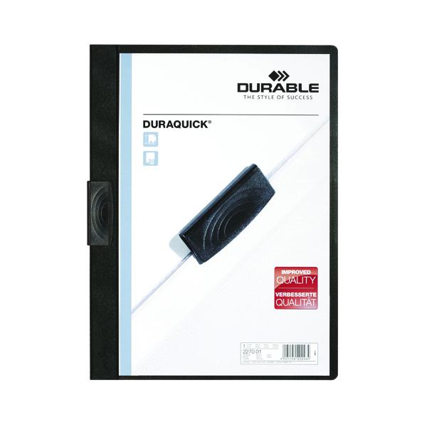 Durable Duraquick Folder A4 Black (20 Pack) 2270/01