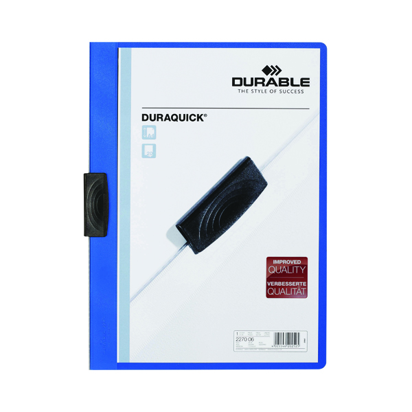 Durable Duraquick Folder A4 Blue (20 Pack) 2270/06
