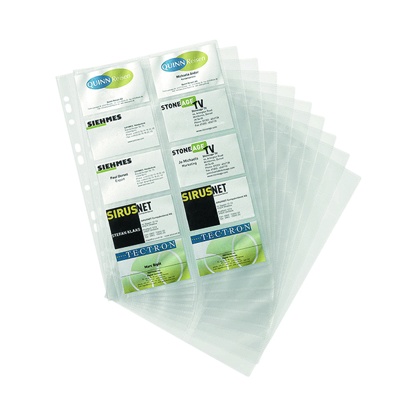 Durable Visifix Business Card Pockets Refill A4 (10 Pack) 2389