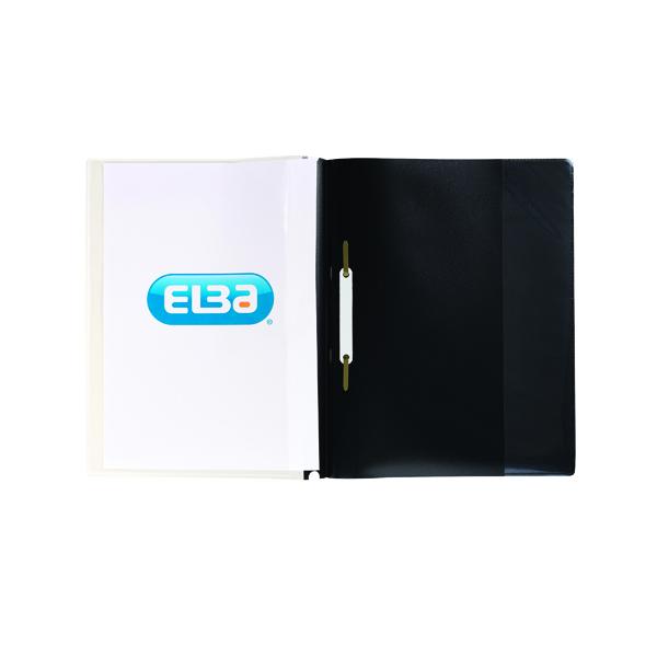 Elba Pocket Report File A4 Black (25 Pack) 400055036