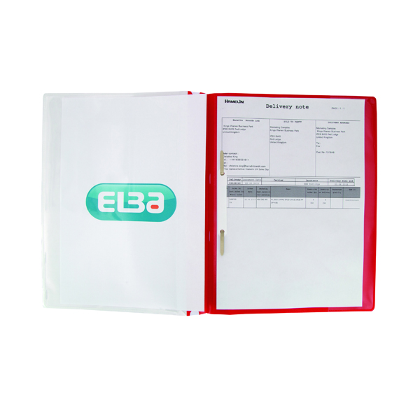 Elba Pocket Report File A4 Red (25 Pack) 400055038