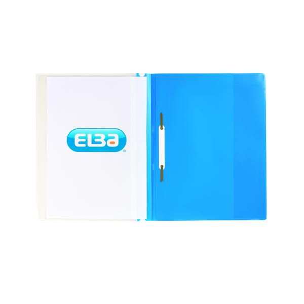 Elba Pocket Report File A4 Blue (25 Pack) 400055037
