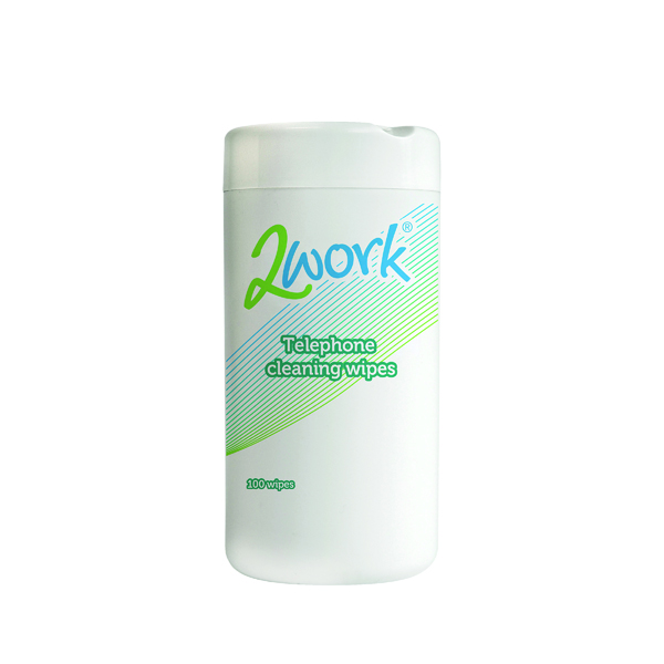 Phone 2Work Telephone Cleaning Wipes (100 Pack) DB50347