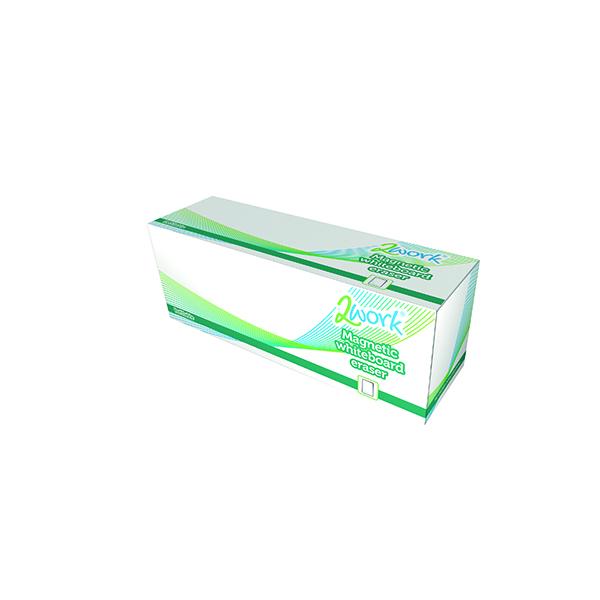 2Work Magnetic Refillable Whiteboard Eraser AMWE001TWK
