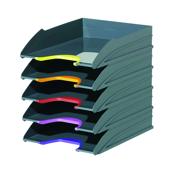 Unspecified Durable Varicolor Letter Tray Assorted (5 Pack) 770557