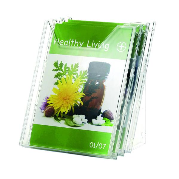 Literature Holders Durable Combiboxx Portrait Literature Holder, Transparent 3 X A4 8580/19