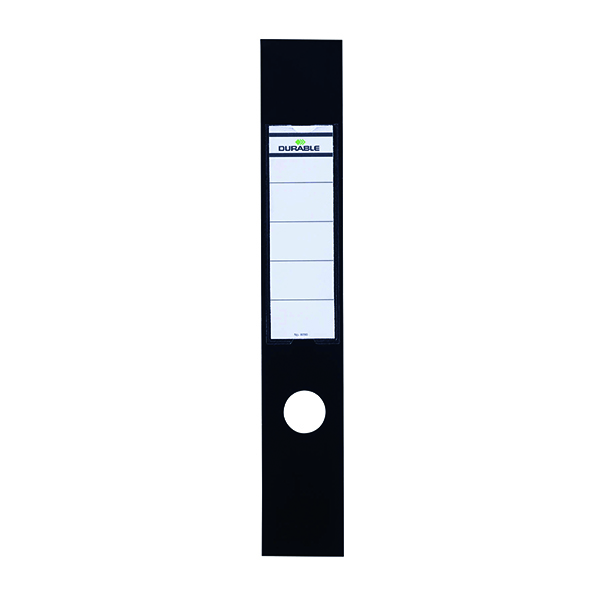 Durable Black Ordofix File Spine Label (10 Pack) 8090/01