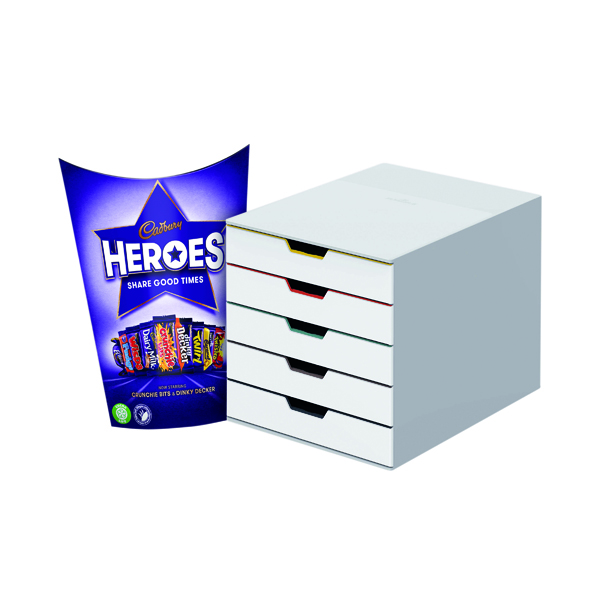 Unspecified Durable Varicolor Mix 5 Drawer Unit FOC Heroes 185g DB810755