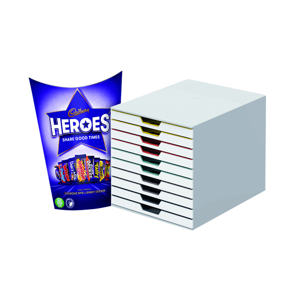 Unspecified Durable Varicolor Mix 10 Drawer Unit FOC Heroes 185g DB810756