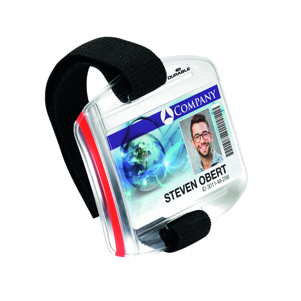 Durable Security ID Armband Badge Holder Transparent (10 Pack) 8414