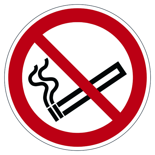 """Durable Safety Marking """"Smoking Prohibited"""" Floor Sign, Diameter 430mm 172803"""