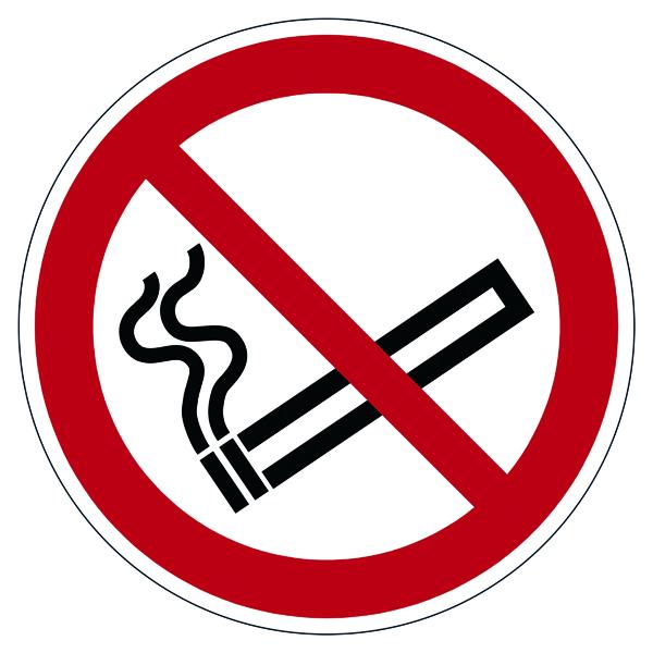 "Smoking Durable Safety Marking ""Smoking Prohibited"" Floor Sign, Diameter 430mm 172803"