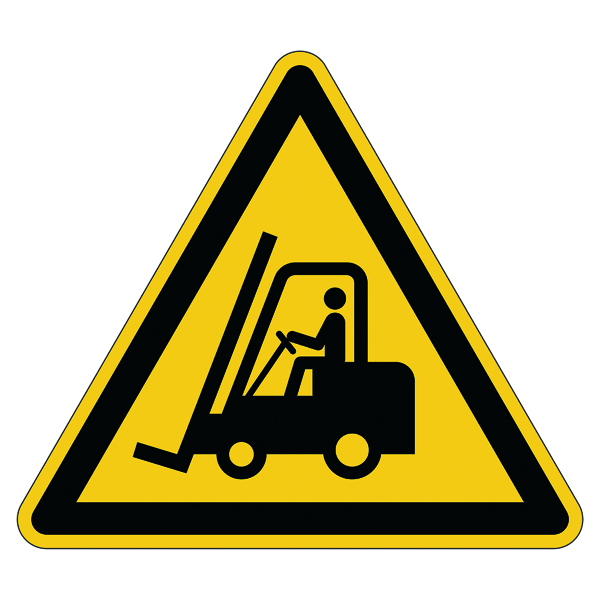 "Warning Durable Safety Marking ""Caution Forklifts"" Floor Sign, Diameter 430mm 173404"