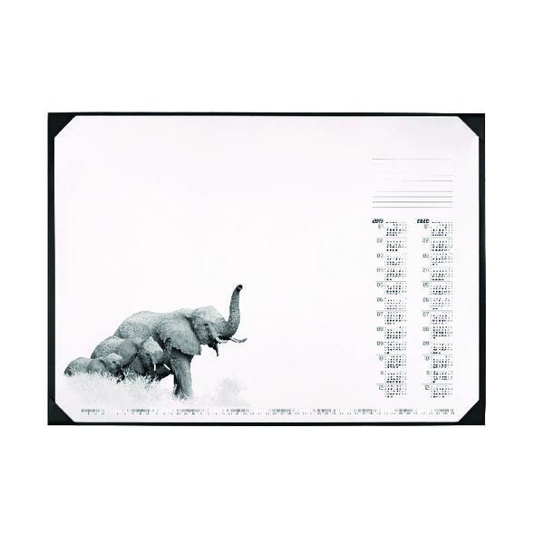 Durable African Wildlife Calendar Desk Mat 590 x 420mm 7313