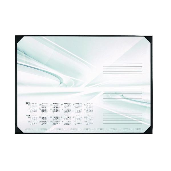 Durable Bright Curves Calendar Desk Mat 590 x 420mm 7314