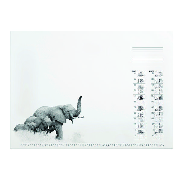 Durable African Wildlife Calendar Desk Mat Refill 570 x 410mm 7323