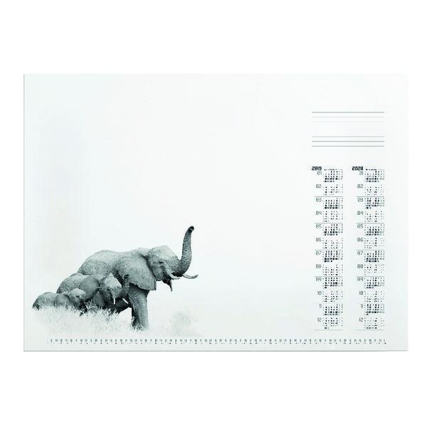 Durable African Wildlife Calendar Desk Mat Refill 570 x 410mm 7323