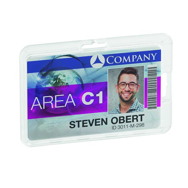 Durable Card Holder Permanent Transparent (10 Pack) 8928