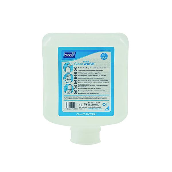 Floor Cleaning Deb Refresh Clear FOAM Wash 1 Litre Cartridge (6 Pack) CLR1L