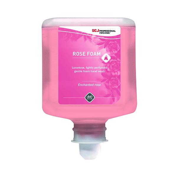 Floor Cleaning Deb Refresh Rose Foam Wash 1 Litre Cartridge (6 Pack) RFW1L